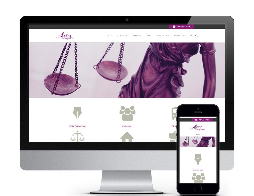 Web bufete de abogados Alcón Abogados