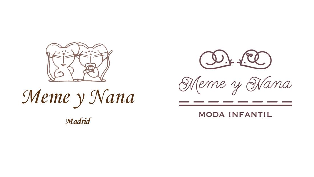 Logo Meme y Nana (original y rediseño)