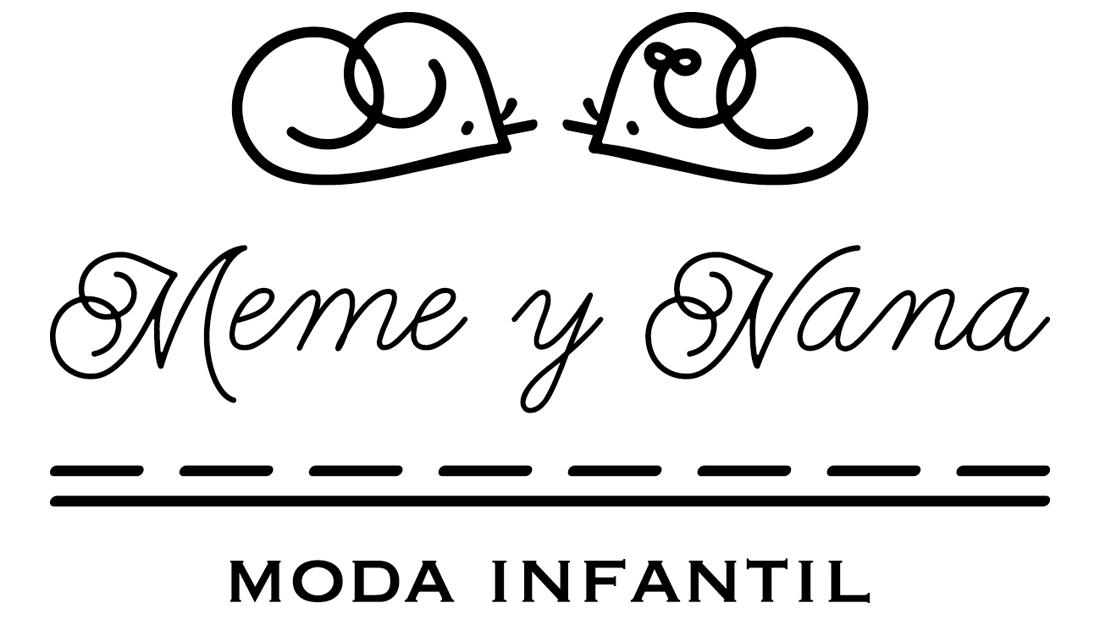 Logo Meme y Nana (versión blanco y negro)