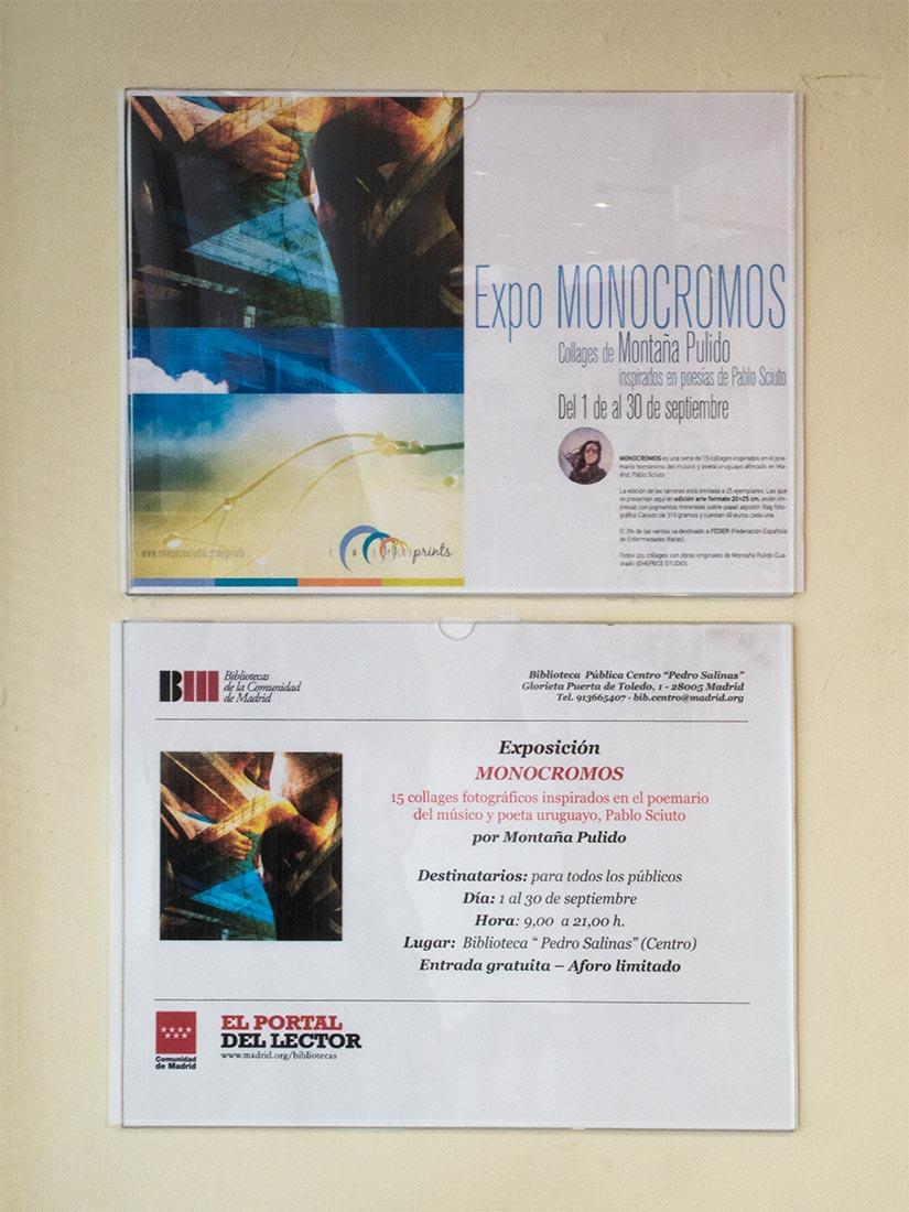 Expo Monocromos en Biblioteca Pedro Salinas